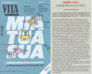VITA Non Profit Ottobre 2013 - commento al progetto di riforma degli enti non profit