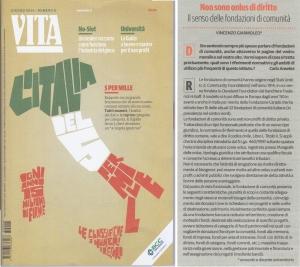 """Il senso delle fondazioni di comunità (""""VITA"""" giugno 2013 n.6)"""